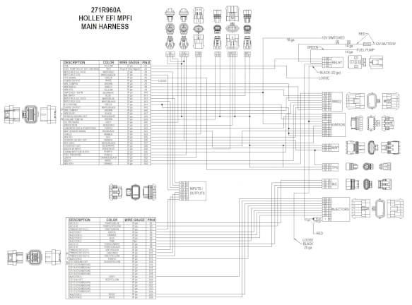 Holley Hp Efi Ecu  U0026 Harness Kit For Universal V8 Multi